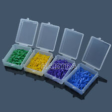 Hot ! 400pcs Dental Plastic Poly-wedges with Dental holes 4 colors 4 sizes