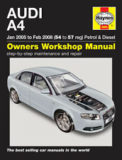 Haynes Manual 4885 Audi A4  B7 Avant 1.8 SE 2.0 Turbo 1.9 & 2.0 TDi 2005-2008