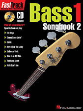Fast Track 1 Songbook Two Bass Guitar TAB Learn to Play Music Book CD