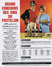 PUBLICITE ADVERTISING 114 1963 Les Vins du POSTILLON
