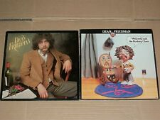 DEAN FRIEDMAN lot 2x LP s/t 1st DEBUT well well said the rocking chair PROMO