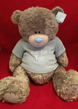 "ME TO YOU BEAR TATTY TEDDY X-LARGE 24"" JUST FOR YOU BLUE T-SHIRT PLUSH GIFT"