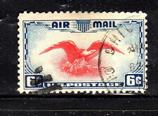 #C23  6 CENT EAGLE     AIR MAIL  FANCY CANCEL   USED   b