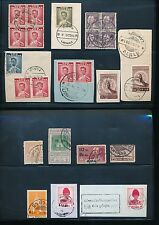 THAILAND SIAM LAMPANG POSTMARKS 23 stamps FINE USED + BLOCKS