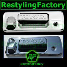 14-15 TOYOTA TUNDRA CrewCab Chrome Tailgate Trim Overlay Cover W/Camera Hole