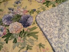 Queen Duvet by Burlington Yellow Blue Pink Green Floral Scroll French Country