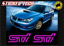 2 X MY06 MY07 06 07SUBARU IMPREZA WRX STI FOG LIGHT COVER STICKER DECAL