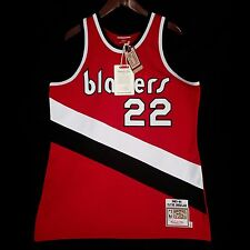 100% Authentic Clyde Drexler Mitchell & Ness Blazers Jersey Size 44 L
