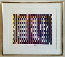 YAACOV AGAM, VINTAGE ABSTRACT MODERNIST OP ART SIGNED SERIGRAPH PRINT