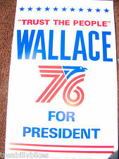 1976 Alabama Governor George Wallace for President Poster-Trust the people!-RARE