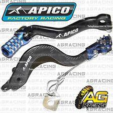 Apico Black Blue Rear Brake & Gear Pedal Lever For Yamaha YZ 85 2002-2015 MotoX