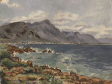 1965 Landscape Painting, Hermanus, Cape, South Africa by Mary Difford Jordan, Oi