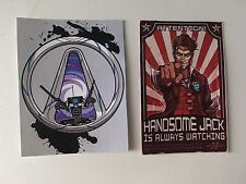2 x Borderlands Stickers Handsome Jack Claptrap Ps3 Ps4 Telltale Games Merch Fun