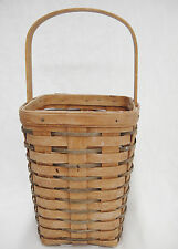 Longaberger Large Peg Basket 8x6x6 Vintage 1992 Faded Primitive