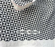 NEW cotton tote bag or shopper by Isabel Marant. Cream/black with red stitching.