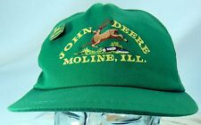 John Deere Moline Il Baseball Style Hat Adjustable One Size Fits All plus Pin