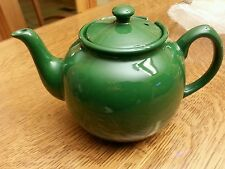 FOX RUN BRANDS EARTHENWARE TEAPOT 55 OUNCE GREEN D-SHAPED LID 39862