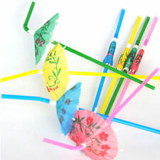 20Pc Novelty Utility Party Decor Paper Parasol Umbrella Cocktail Drinking Straws