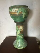 Roseville Pottery Luffa Jardiniere and Pedestal
