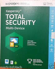Kaspersky Total Security 2016 Multi device 2 User / 1 Year for PC, Mac & Android