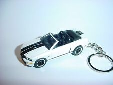 NEW 3D WHITE 2008 FORD MUSTANG SHELBY GT CONVERTIBLE CUSTOM KEYCHAIN keyring