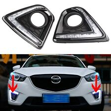 2pcs LED Daytime Running Fog Lamp DRL Day Light Fit Mazda CX-5 2012-2015