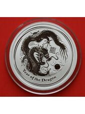 2012 Australian Year Of The Dragon 1/2oz Silver Bu 50c Coin In Capsule