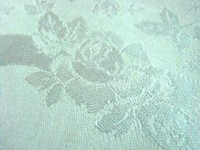 "Vintage Napkins SATIN Damask Roses Dinner Lot 8 Ivory 19"" Border"