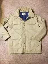Vtg Woolrich Quilted Lined Coat Field Hunting Jacket Men L Large Tan Made In USA