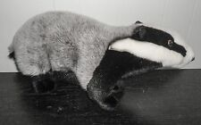 Hansa Badger Realistic Plush Stuffed Animal Grey Black White Woodland Animals
