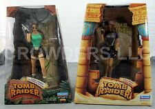 "Tomb Raider Lara Croft 9"" Action Figure Wetsuit & Jungle Outfits Diorama Display"