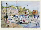 Signed Cornish art prints, Padstow harbour cornwall 10x8 inch print