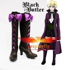 Black Butler II 2 Alois Trancy Cosplay Shoes Boots Custom Made