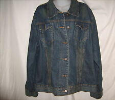 Steve & Barrys Ladies Button Distressed Blue Denim Jean Jacket XXL Fitted