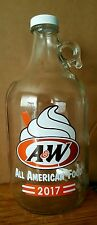 A&W Root Beer Glass 1/2 Gallon Collector Jug - 2017