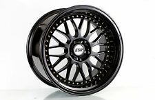 19x9.5 +22 Inch ESR Sr01 5x120 Gloss Black Wheels Rims E90 E60 E92 F10 F82 M3 M5