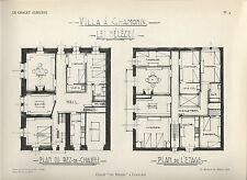 HAUTE-SAVOIE = CHALET ALPESTRE = CHAMONIX + Plan de la villa Les Mélèzes