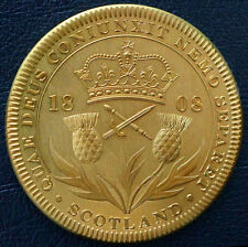 1808 Scotland Retro Pattern Proof Crown Golden Alloy George III Coin