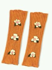 Wrapables Children's Flower Fairy Costume Leg Warmers, Orange w/ flowers