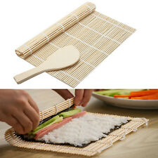 New Practical Sushi Rolling Roller Bamboo Material Mat Maker And Rice Paddle Kit