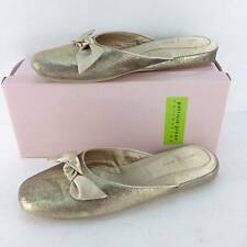 Patricia Green Womens Giselle Gold Leather Slippers Sz 7  ̶$̶1̶1̶0̶