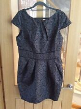 Brand New w Tags Dorothy Perkins Black & Grey Jacquard Lampshade Dress - Size 16