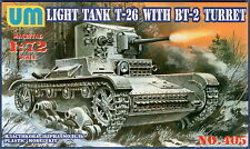 UMmt #405, 1/72, Soviet tank T-26/BT-2 (with injection molded tracks)