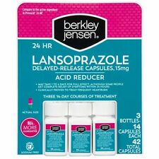 Berkley Jensen 24 Hour Lansoprazole Acid Reducer , 3 packs. Total 42 Count