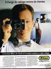 Publicité advertising 1986 Appareil photo Nikon L 35 TWAF