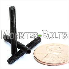 M3 x 25mm - Qty 10 - DIN 916 CUP Point Socket Head Set / Grub Screw Black Alloy