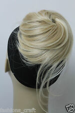 New Synthetic Hairpiece Bun Scrunchies Straight Elastic Hairdo Up do ponytail 6""