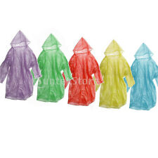 12Pcs Disposable Emergency Rain Coat Raincoat Poncho for Camping Hiking