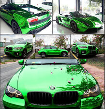"Car Mirror Green Chrome Vinyl Film Wrap Graphic Sticker Decal Roll 20""x60"""