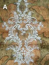 Sew on Bridal Applique Trim Embroidery Applique Ivory Lace Wedding Motif 1 Piece